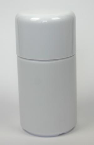 100 ml Flasche weiss, weisser Deckel