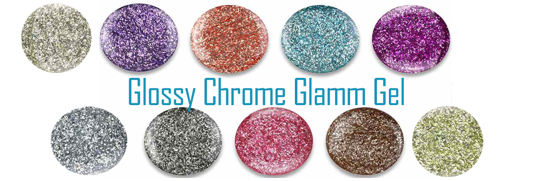 Glossy Chrome Glamm Gel