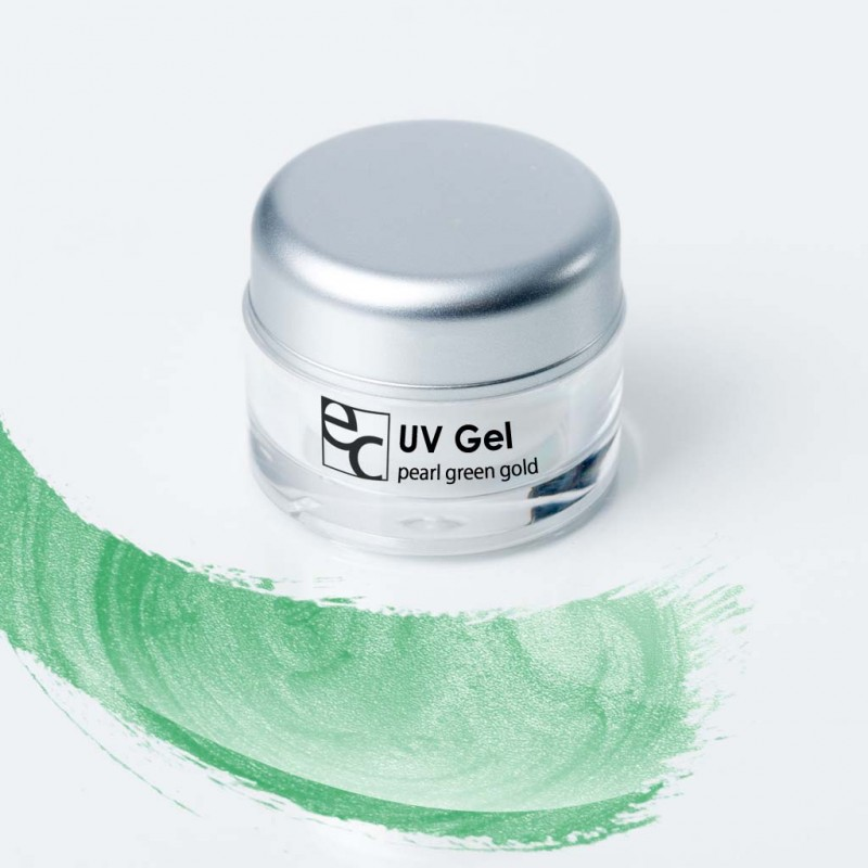 UV Gel Pearl green gold, 5ml