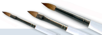 Profi-Acrylpinsel Kolinsky Rotmarder oval, Gr. 10