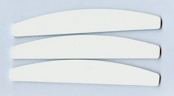 Profi-Nagelfeile halbmond,  Körnung 100/100, weiß, 1 Stk.